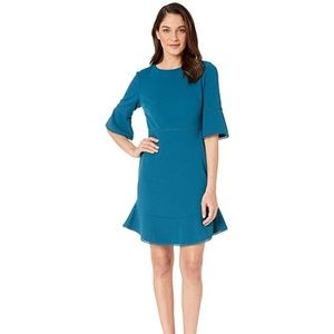 Betsey Johnson S/S Teal Shift Dress Size 12, NWT